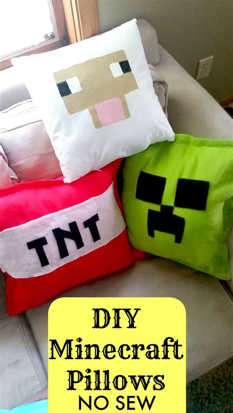 what can i do to make my bed more comfortable make your own diy minecraft pillows no sew tutorial