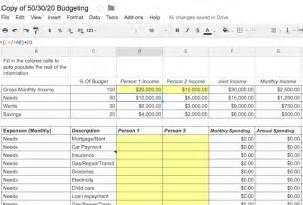 50 30 20 Budget Worksheet Printable » Home Design 2017