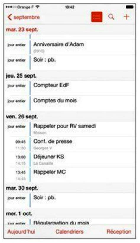 Iphone 4 Calendrier Liste Tutoriel Iphone 6 Le Calendrier 1 232 Re Partie
