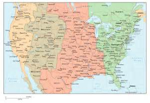 us map time zones