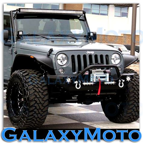 jeep jk led light bar 07 15 jeep jk wrangler 50 quot led light bar combo 3 quot x3 quot led