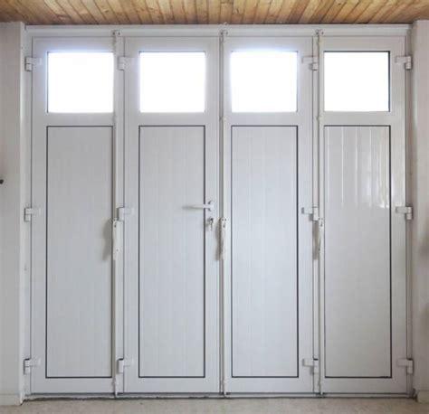 porte de garage 3 vantaux porte de garage battante en aluminium 224 2 3 ou 4 vantaux