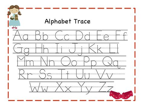 printable letter cards for tracing trace alphabet letters for children activity shelter