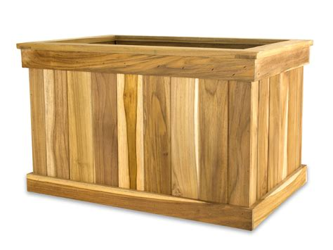 Teak Planter Boxes by Teak Tree Planter Box 16 H X 16 W X 24 L Teak Planter