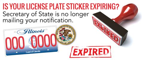 License Plate Sticker Renewal licence plate sticker renewal illinois satu sticker