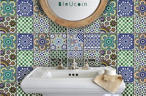 tile decals for bathroom moroccan tile wall floor decal kitchen bathroom indoor