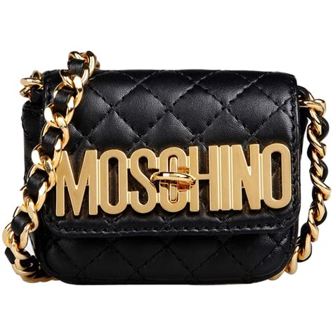 Sandradewi Fendi Bag Code Fendi 8009 1 moschino gold logo quilted leather small pochette black