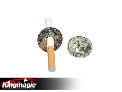 Cigarrete Through Coin coin money magic kingmagic wholesale magic magic tricks china magic manufacturer