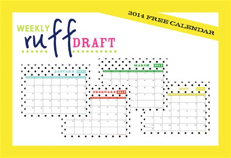 printable calendar 2015 fun ruff draft 2015 free printable calendar anders ruff