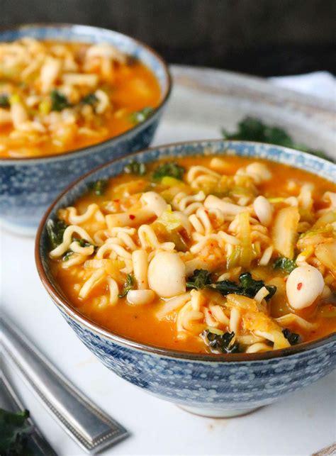 ramen noodle soup recipes vegetable kimchi ramen noodle soup soupaddict