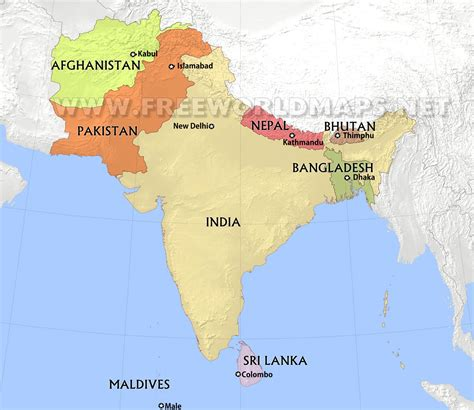 map  sri lanka  surrounding countries