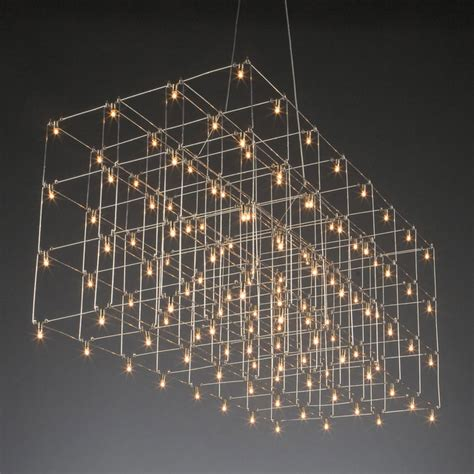 Modern Led Chandelier Universe Led Square Suspension By Lightology Collection