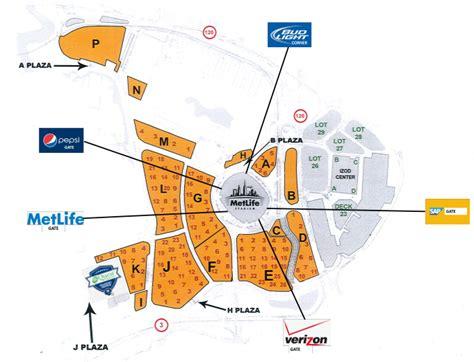 metlife stadium parking map parking