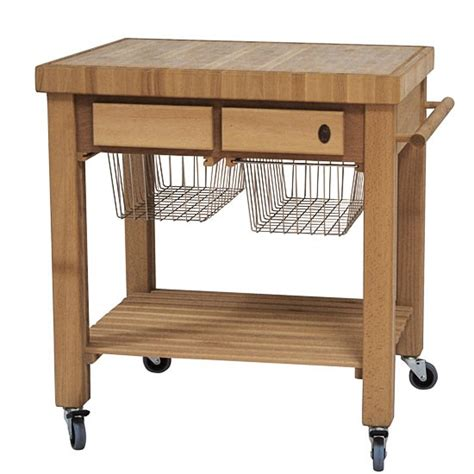 butcher block get practical and movable carts with butcher blocks on