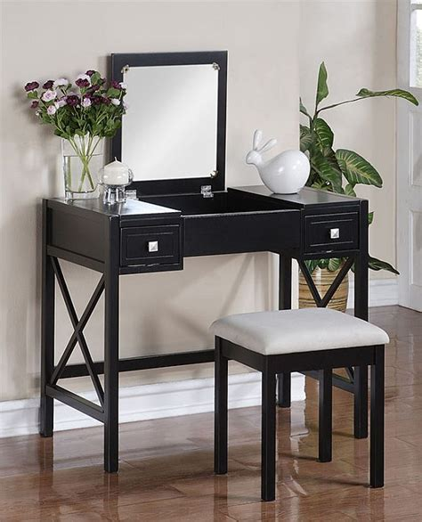 vanity with mirror and bench the perfect black vanity table and bench