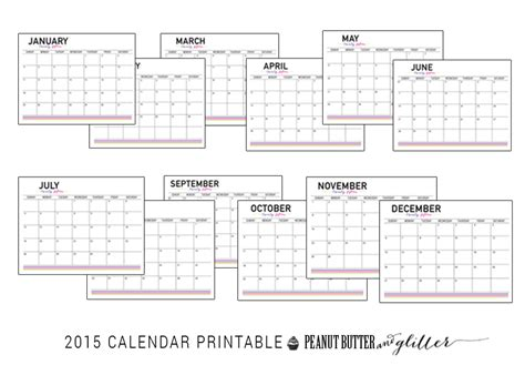 free printable desk planner 2015 2015 calendar printable peanut butter and glitter