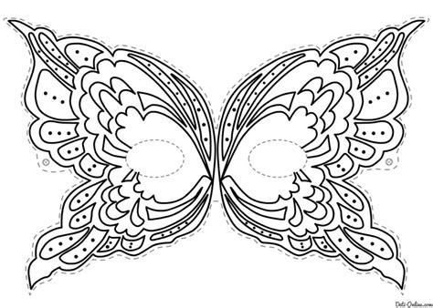 carnival masks coloring pages