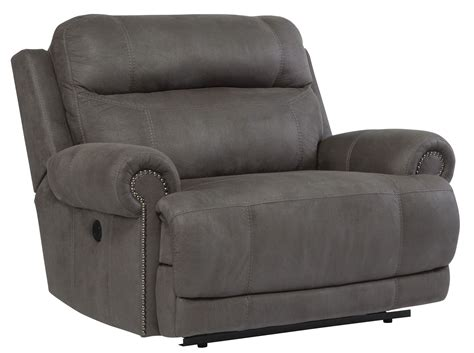 iseat recliner austere gray zero wall wide seat recliner 3840152 ashley