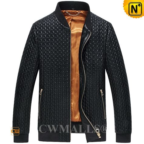 Quilted Leather Mens Jacket by Cwmalls 174 S Quilted Leather Jacket Cw806010