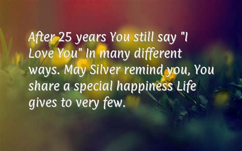 Silver Wedding Anniversary Quotes To by Silver Anniversary Quotes Quotesgram