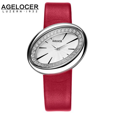swiss watches agelocer leather belt quartz small
