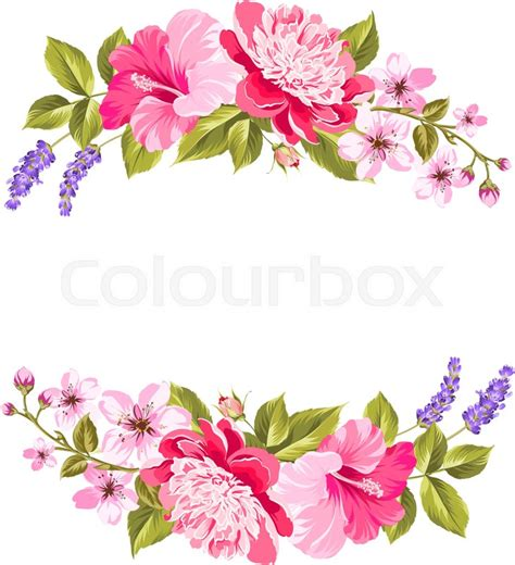 Home Decoration Flowers tropical flower garland free copy space invitation card