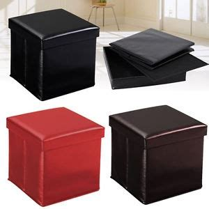 Low Storage Ottoman Leather Style Ottoman Storage Boxes And Low Stools Square