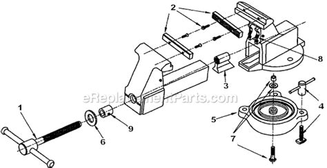 diagram of bench vice bench vise parts diagram bench free engine image for