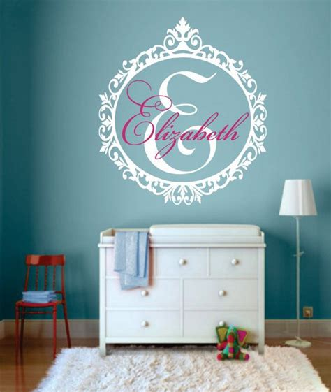 monogram decorations for bedroom 17 best ideas about monogram wall decals on pinterest