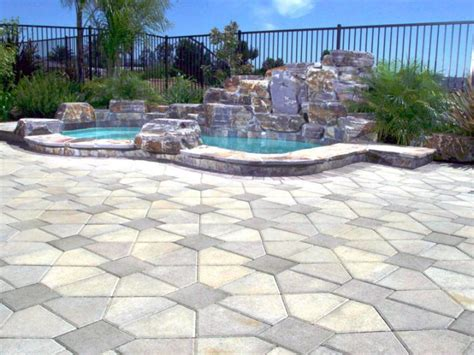 pool deck stone art deco paved pool deck stone