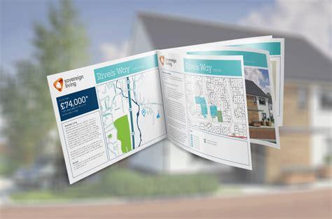 leaflet design portsmouth brochure design sovereign living rivels way development
