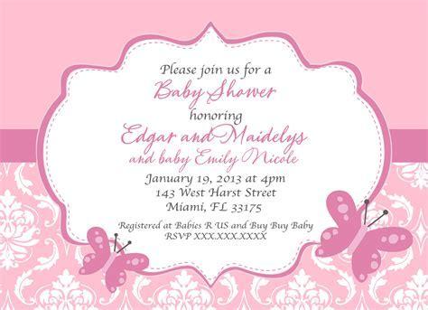 Butterfly Baby Shower Birthday Printable Invitation