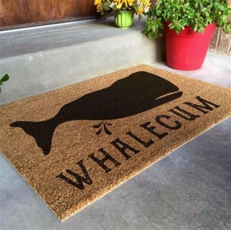 geo whale doormat design ideas