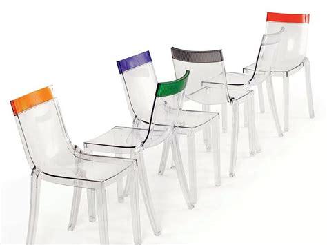 sedie trasparenti kartell hi cut sedia kartell di design in policarbonato