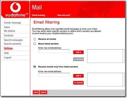 vodafone mail mobile leggere email sul cellulare vodafone mail nuovo servizio