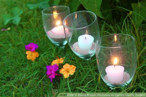 garten sachen 3 ways to reuse broken stemware as garden candle holders