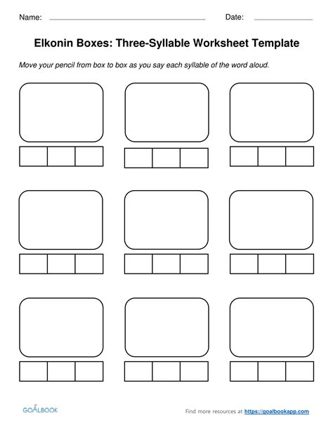 syllable division worksheets elkonin boxes udl