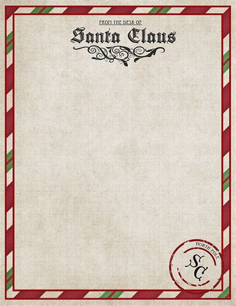 free printable personalised letter from santa template best 25 letter from santa template ideas on pinterest