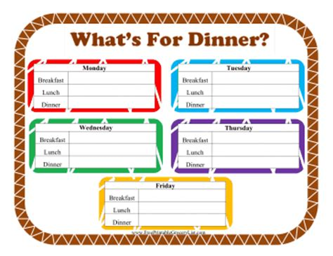 printable what s for dinner