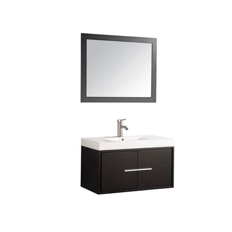 shop mtd vanities cypress espresso 36 in integral single