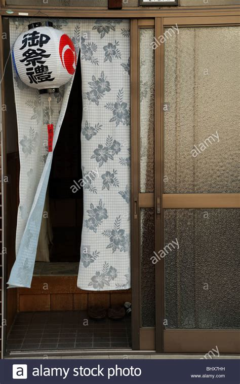 japanese restaurant door curtain a japanese sliding door with noren curtain is decorated