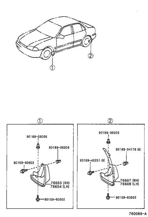 1999 Toyota Corolla Mudguards, Mudguard, Rear, RH