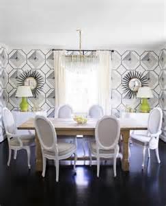 Modern Home Decor Magazines Like Domino Black And White Geometric Wallpaper Contemporary