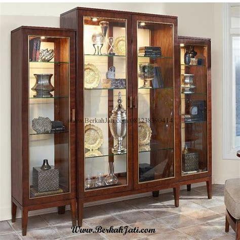 Bufet Penyekat Ruang Keluarga Jati lemari hias minimalis penyekat kaca kayu jati berkah jati furniture berkah jati furniture