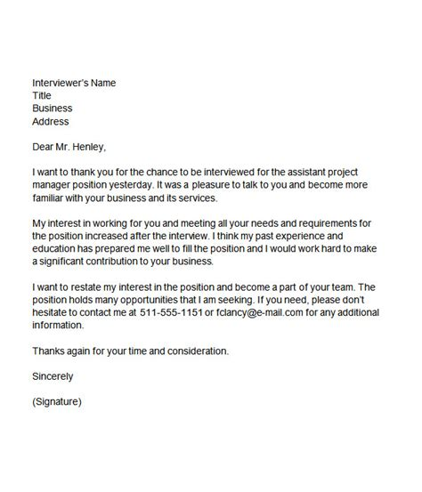 Thank You Letter For Project Manager 110 Thank You Letters For Word Sle Templates
