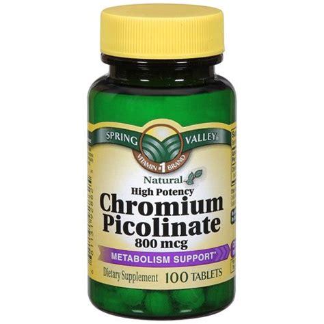Suplemen Chromium Picolinate Valley Chromium Picolinate 800 Mcg Tablets