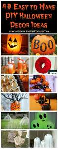 How To Make Halloween Decorations At Home by 40 Easy To Make Diy Halloween Decor Ideas Diy Amp Crafts