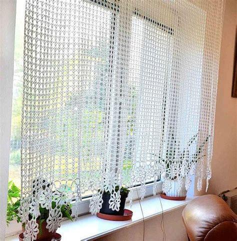 Crochet Kitchen Curtains 17 Best Ideas About Crochet Curtains On Crochet Kitchen Chrochet And Crocheting