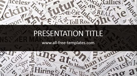 newspaper powerpoint template all free templates