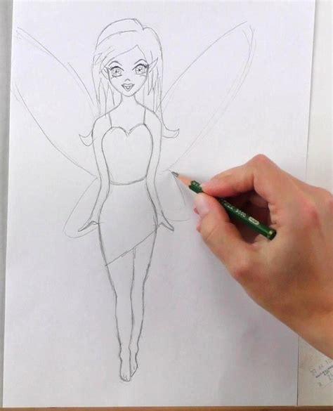 zeichnen ideen einfach fee zeichnen lernen mit bleistift schritt f 252 r schritt
